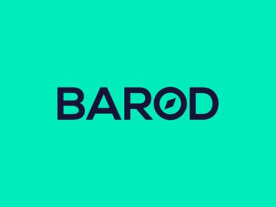 Barod App Logo branding identity journey direction compass green cymraeg welsh app logo