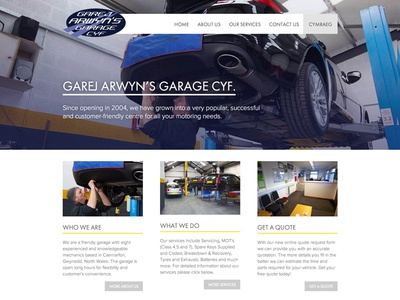 Garej Arwyn Website