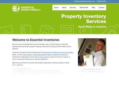 Essential Inventories Website website green properties whitespace clean