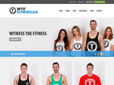 Witness The Fitness Gymwear gym fitness wtf website ecommerce