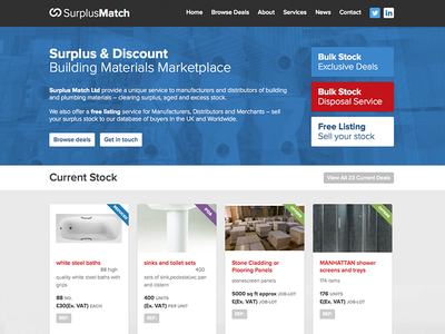 Surplus Match surplus website building blue