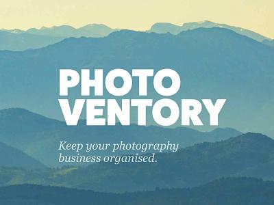 Photoventory identity branding logo android ios photography simple design photo app