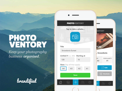 Photoventory development ui android ios photography photo brandified clean white design app photoventory