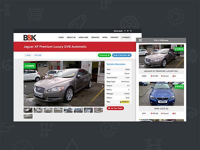 Auto Dealer Website garage car vehicles design web dealership auto