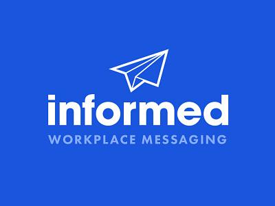 Informed App Logo branding icon simple blue app logo