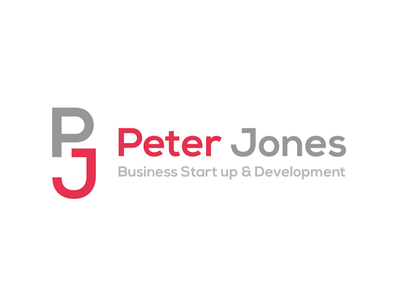 Peter Jones Business Start up & Development up clean simple logo business corporate startup