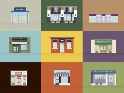 Stores stores locals front house vector illustration