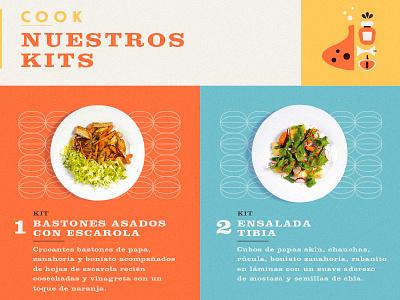 Cook cook flyer food illustration identity branding orange yellow organic clarendon
