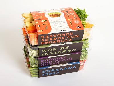 C O O K cook food packaging illustration orange yellow organic cut type identity branding
