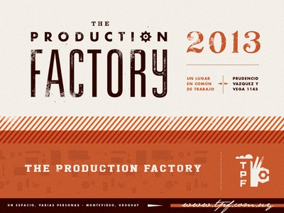 TPF production factory hand identity branding martin