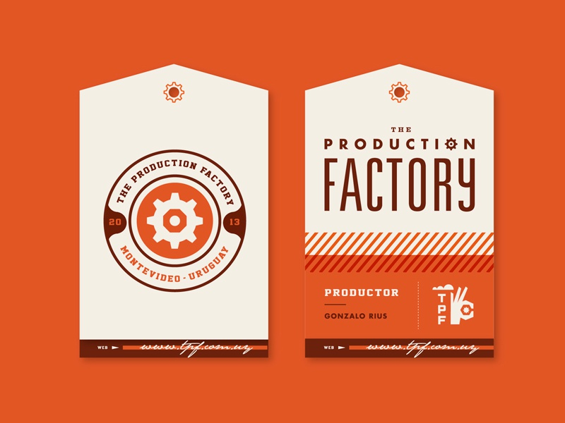The Production Factory production factory hand identity branding stationery cards martin