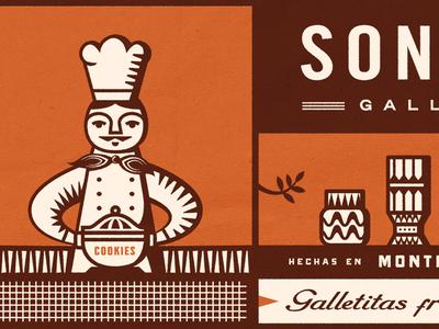 Cookies cookies packaging orange illustration avena oats chef