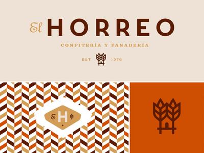 El Horreo bakery cafe cold cuts drinks shop identity illustrations martin azambuja brand mark