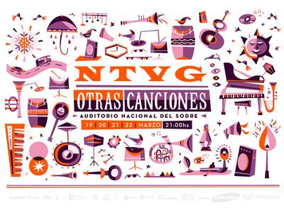 No Te Va Gustar poster music guitar trumpet print songs martin azambuja