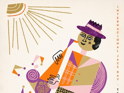 Jazz Day is coming... jazz music poster festival uruguay martin azambuja illustration textures geometric