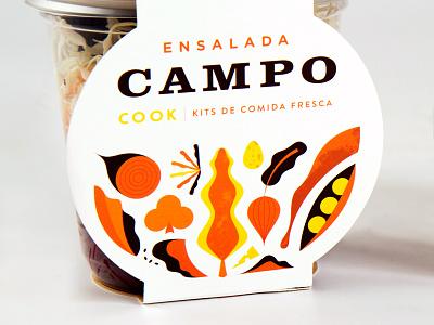 Cook Salads salads cook food martin azambuja illustration packaging