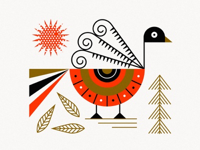 Ancient bird azambuja martin vector illustration sun colors shapes bird
