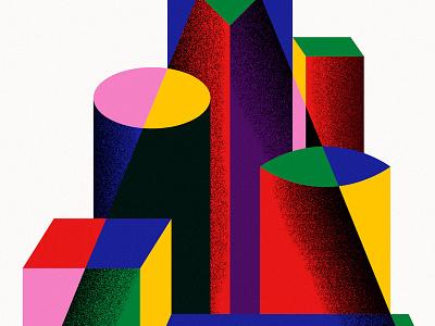 Artesanía texture azambuja martin afiche triangle colors shapes poster craft