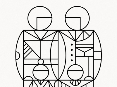 Familia azambuja martin geometry line familia illustration vector family