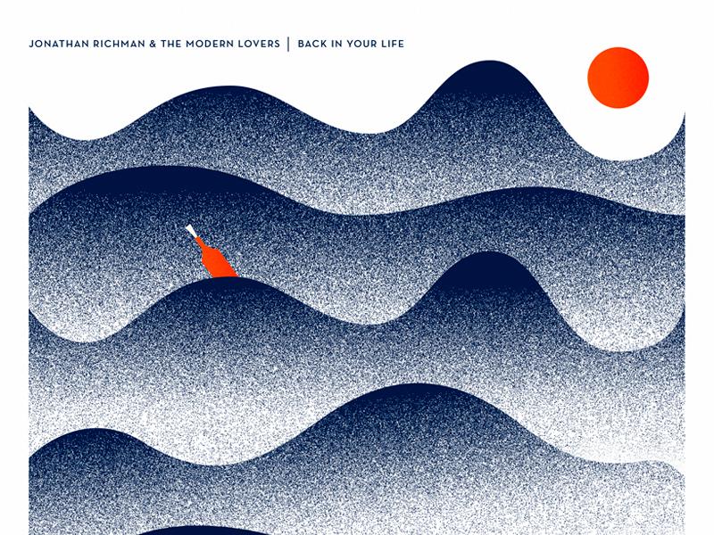 Modern Lovers vector illustration azambuja martin blue grain bottle water vinyl music disc