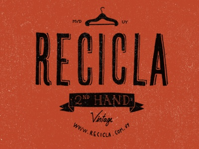 Recicla logo hand lettered typography