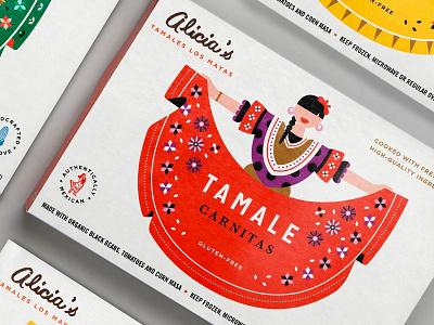 Alicia food azambuja martin design illustration box mexican packaging tamales