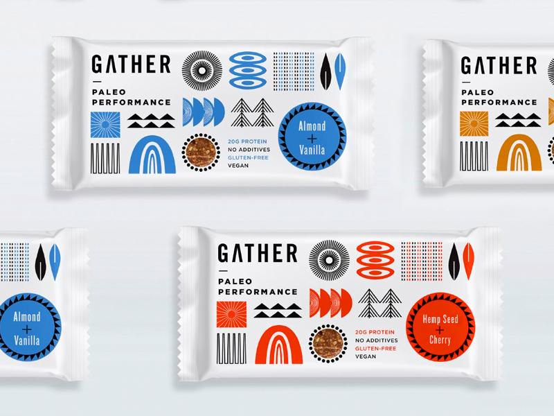 Paleo azambuja martin vector illustration empaque packaging cereal bar paleo