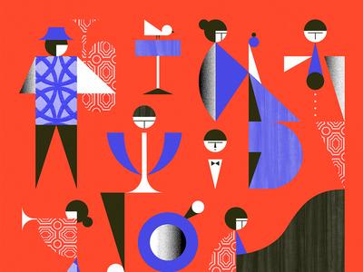 The Danish Radio Big Band musica color geometric shapes jazz cover music album