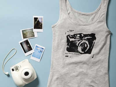 Camera Logo Tank logo screenprint shirt illustraion kayla suzanne camera logo camera