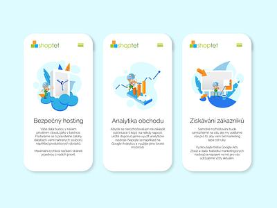 Web illustrations analytics hosting illustration app mobile