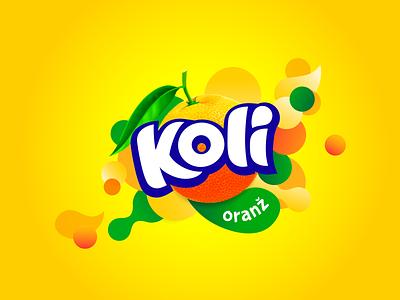 Koli orange packaging soda