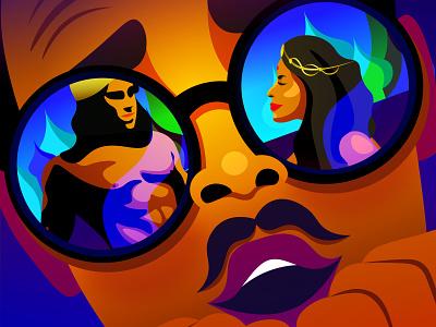 Bollywood illustration festival film india bollywood