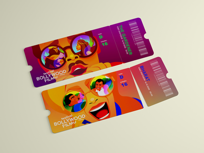 Tickets festival bollywood cinema tickets illustration