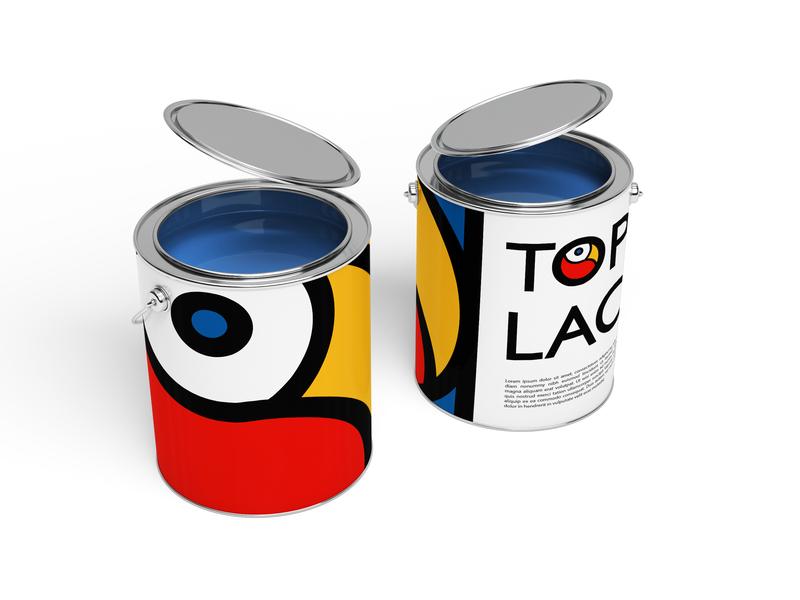 Paint bucket bucket paint logo branding packaging