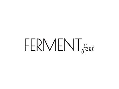 Fermentfest logotype logo festival fermentation
