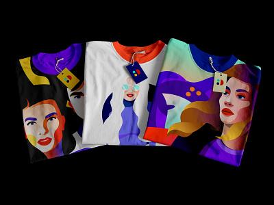T-shirts t-shirt print brand people illustration t-shirt