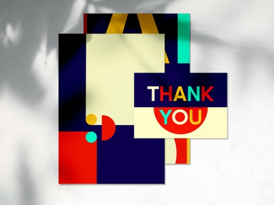 Thank you card branding design print card thankyou