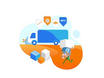 Delivery truck delivery vector illustration