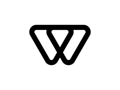 W 36daysoftype line w graphicdesign minimalistic monogram typography type mark graphic design branding letter logotype graphic vector minimalist design logo