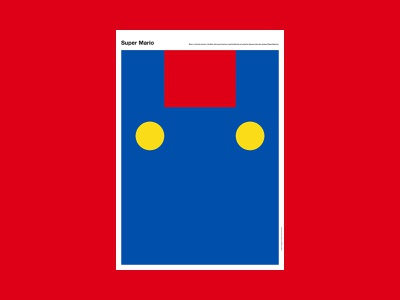 Super Mario character mario super videogame abstract poster design poster a day poster illustration design art simple minimal