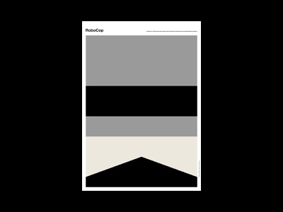 RoboCop movie abstract poster design poster a day poster illustration design art simple minimal