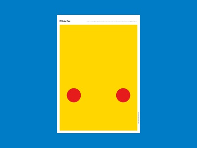 Pikachu game nintendo pokemon movie abstract poster design poster a day poster illustration design art simple minimal