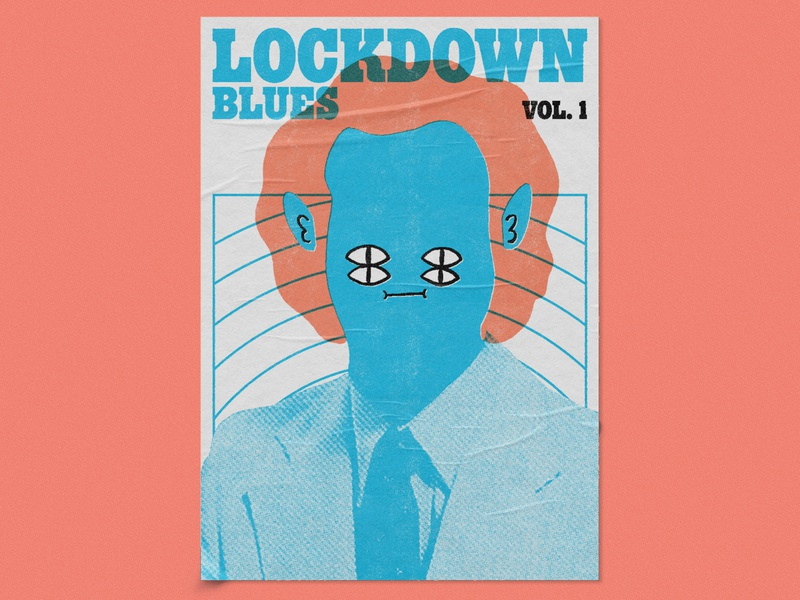 Lockdown Blues Vol. 1 – Dumb Fun, Poster Design gig poster retro music graphic designer illustrator poster artwork poster art print poster graphic design illustration