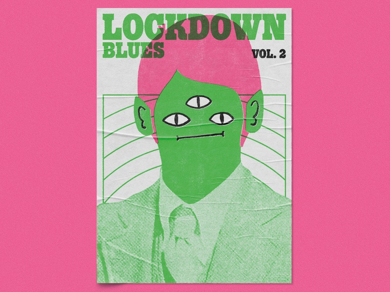 Lockdown Blues Vol. 2 – Dumb Fun, Poster Design retro gig poster music graphic designer illustrator poster artwork poster art poster print graphic design illustration