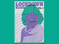 Lockdown Blues Vol. 3 – Dumb Fun, Poster Design retro gig poster music graphic designer illustrator poster artwork poster art print poster graphic design illustration