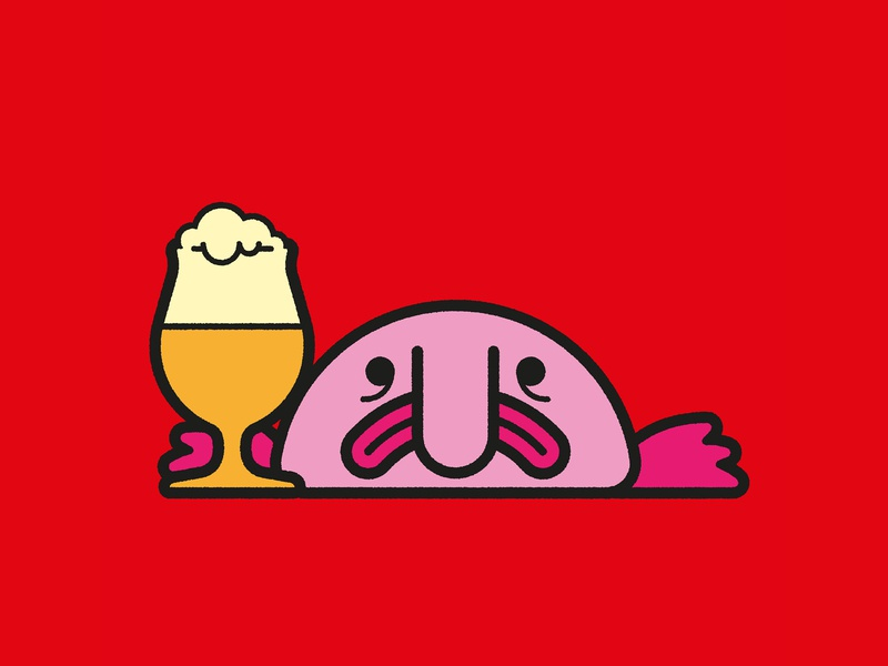 Blobfish Beer Festival – Branding, Concept poster design poster retro typography blobfish craft beer branding concept branding design beer festival illustration graphic design branding