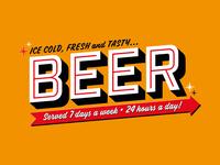 24/7 Beer – Dumb Fun beer typographic signage sign writing retro vintage typography retro typography typography craft beer graphic design