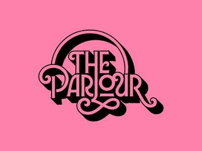 The Parlour – Logo Concept (WIP) art nouveau french pink logotype ornate vintage typography branding logo design concept logo concept logo design logo