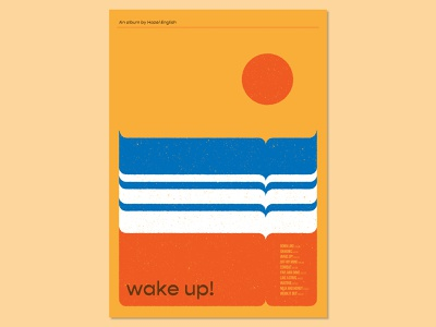 31 Posters for 31 Albums: 9/31 sunset beach print design print graphic design poster design graphic designer poster designer graphic art visual art music music art gig poster typography