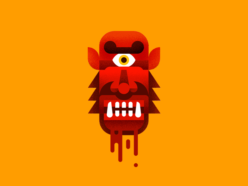 Cysquatch vector illustration metal music cyclops blood mythical mastodon